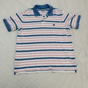 Brooks brothers blue pink white stripe polo XXL
